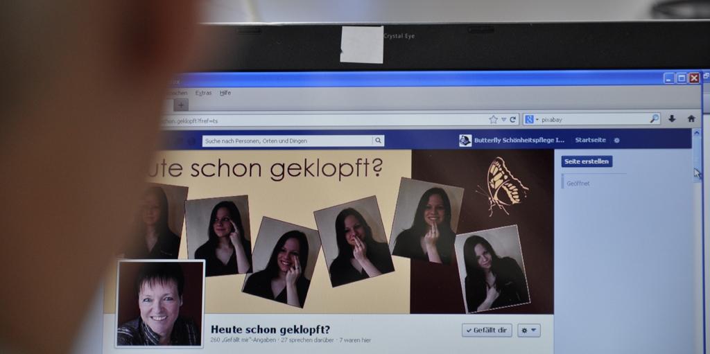 Facebook Fanseite Heute schon geklopft